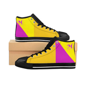 Yellow & Pink Women's High-top Sneakers