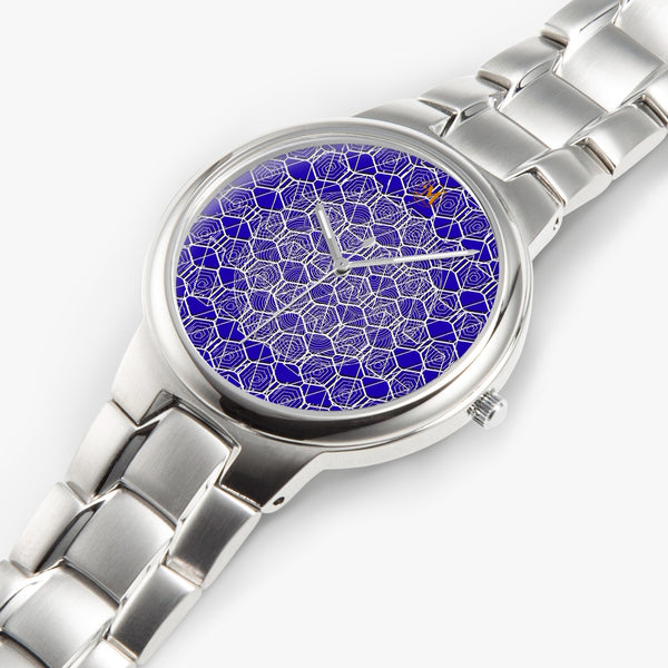 Tribal Blue Stainless Steel Quartz Watch