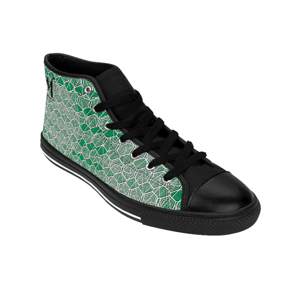 Tribal Green Men's High-top Sneakers