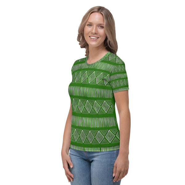 Royal Tribal Lit Green Women's T-shirt