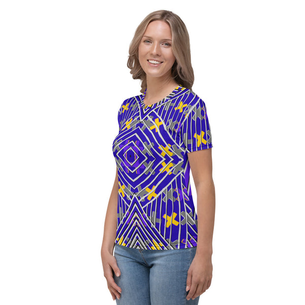 Gold and Purple Crosses Women's T-shirt