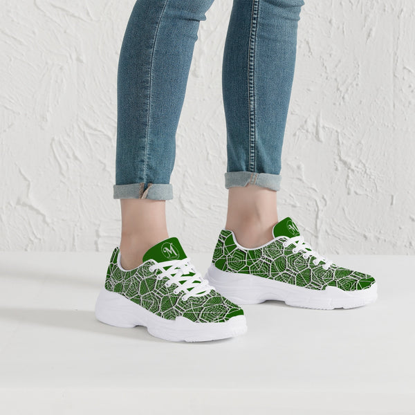 Tribal Green Majestic Sneakers