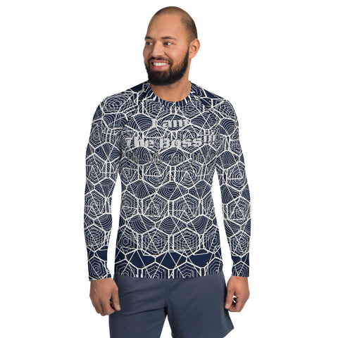 Men's Interesting Tribal Design Rash Guard