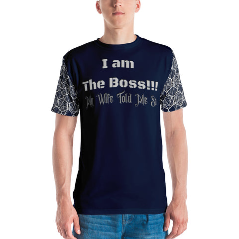 I AM THE BOSS T-Shirt with Tribal Design