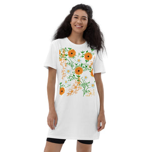 Tropical Flowers cotton Dress