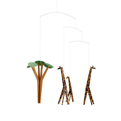 Giraffes on the Savannah - Scandi Interiors
