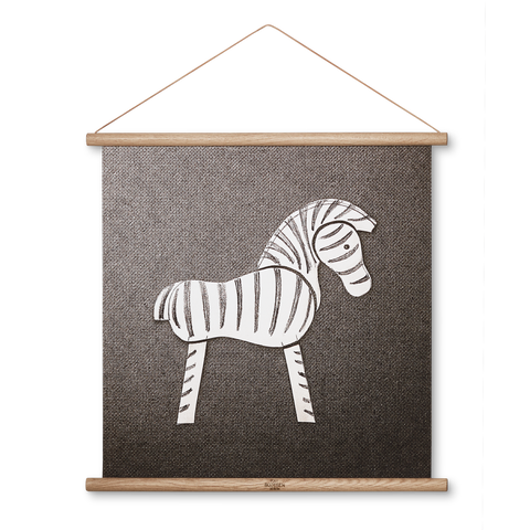 Zebra Photo Sketch - Scandi Interiors
