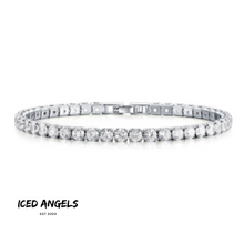 Load image into Gallery viewer, ICED ANGELS - TENNIS ARMBAND WEISSGOLD 4MM