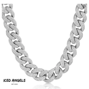 ICED ANGELS - CUBAN LINK CHAIN 20MM