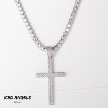 Load image into Gallery viewer, ICED ANGELS - CROSS NECKLACE