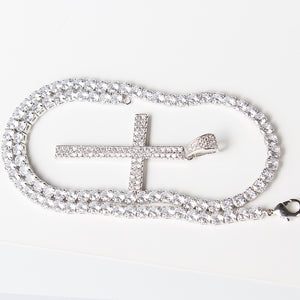 ICED ANGELS - CROSS NECKLACE