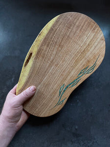 Mesquite Cutting Board with Turquoise Vine Inlay