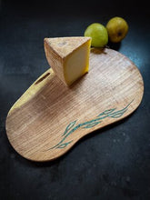 Load image into Gallery viewer, Mesquite Cutting Board with Turquoise Vine Inlay
