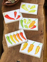 Load image into Gallery viewer, Peppers - Chile Greeting Cards - Set of 5