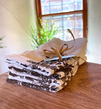 Load image into Gallery viewer, Cloth Napkins set of 4 ~ screen printed 100% cotton floursack