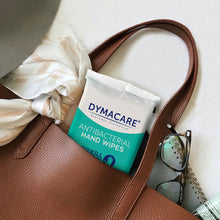 Load image into Gallery viewer, dymacare antibacterial hand wipes are great skin sanitizing solution in the office, at work. They allow you to clean your hands and sanitize shin even when there's no water available. Rinse-free worry free formula you can trust.