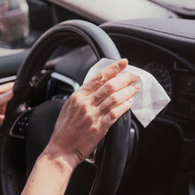 Load image into Gallery viewer, dymacare antibacterial hand wipes can be ideal for car journeys, simple all around disinfection, even for steering wheel, door handle disinfections and to sanitise surfaces you frequently touch.