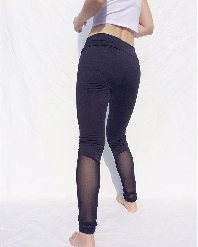 Mesh Splicing High Waist Sports Leggings