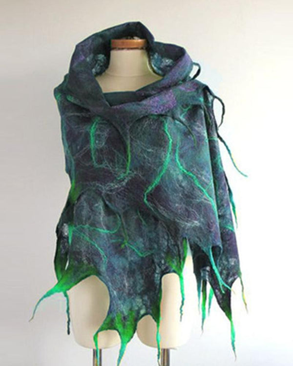 Casual Color Block Printed Scarf