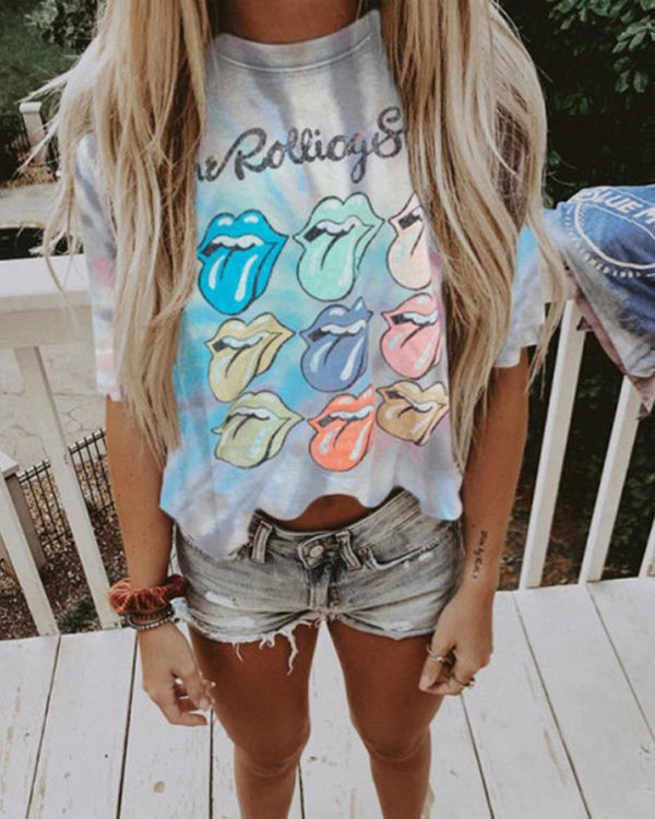 Print Cropped T-shirt Top