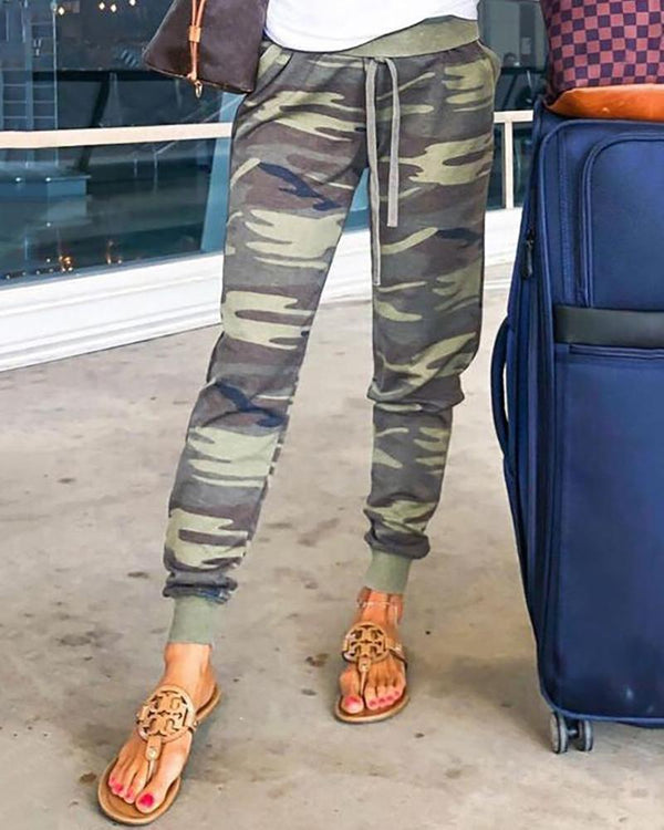 Camouflage Drawstring Sweatpants