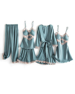 Slim 5Pcs Pajama Set