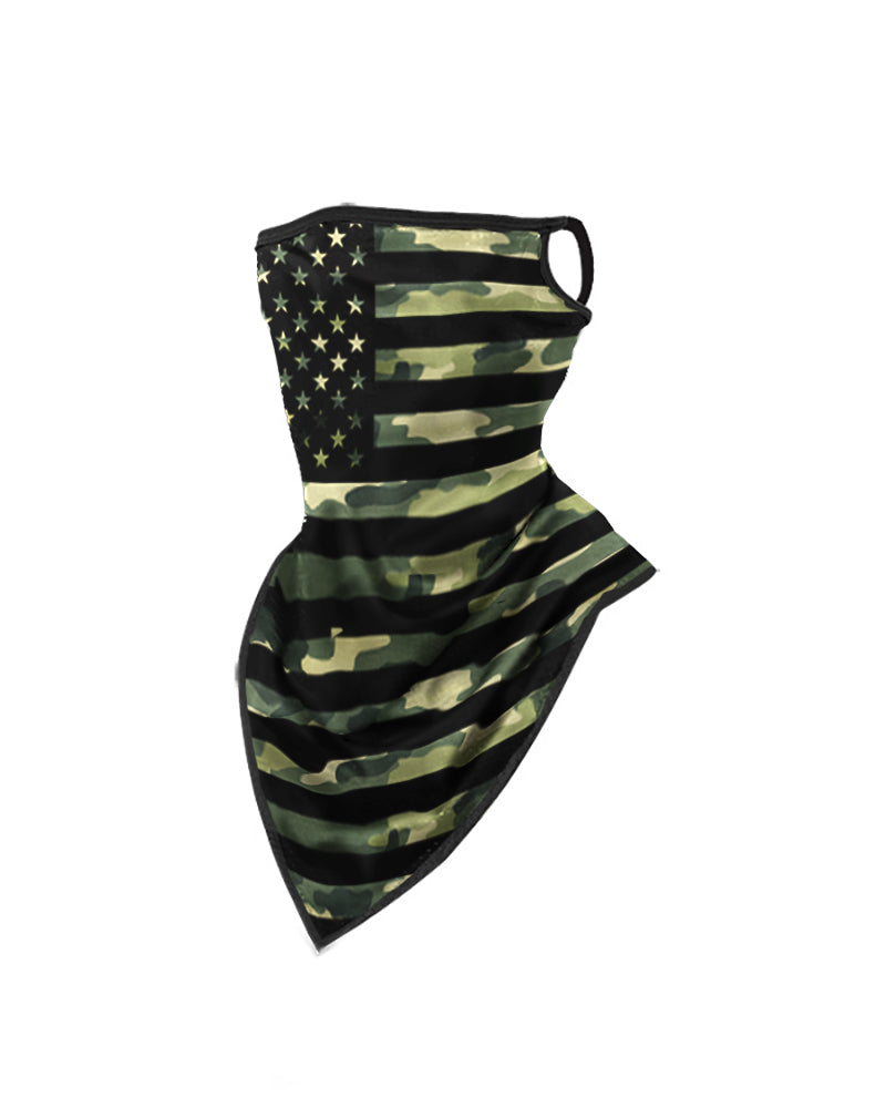 Camouflage Print Breathable Face Bandana Magic Scarf Headwrap Balaclava