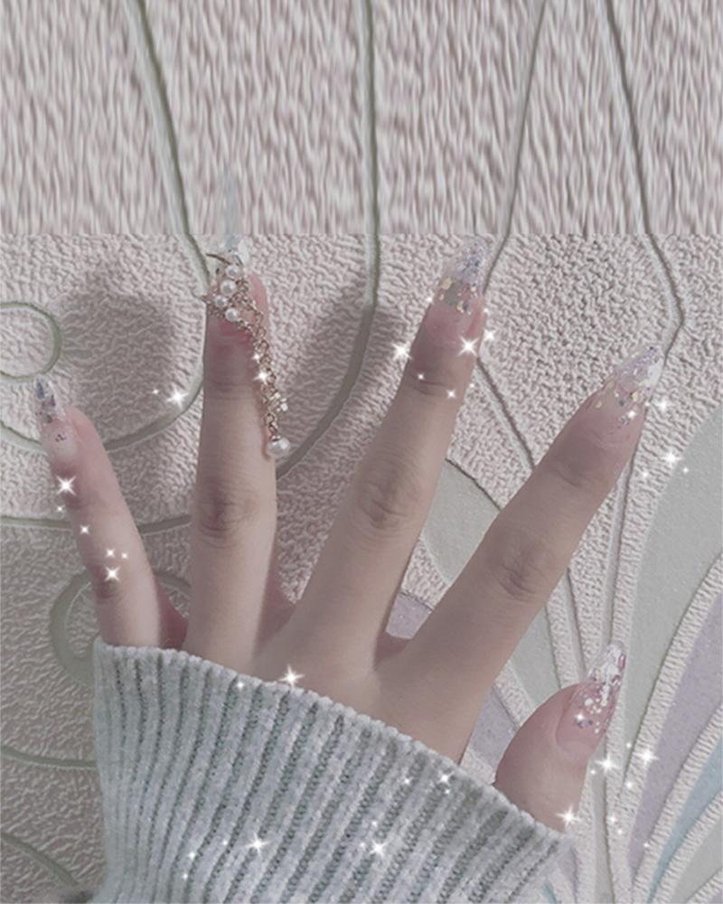 Pearl Moon Star Nail Patch