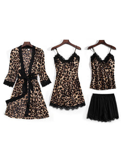 Leopard Print Cami Set & Nightgown