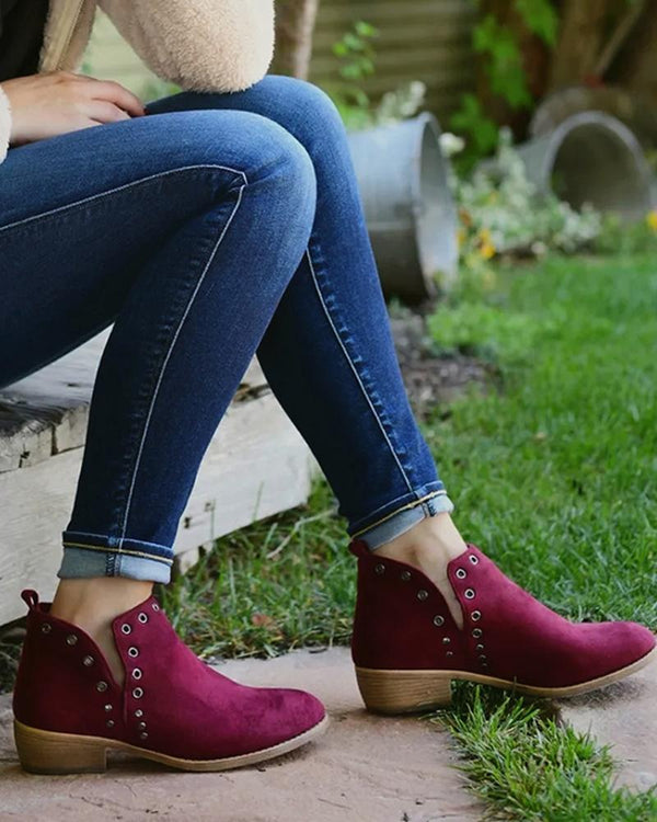Casual Cozy Suede Ankle Boots