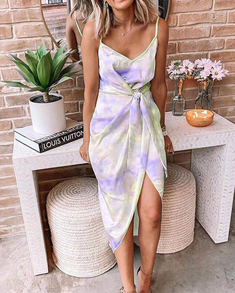 Tie Dye Cami Midi Dress