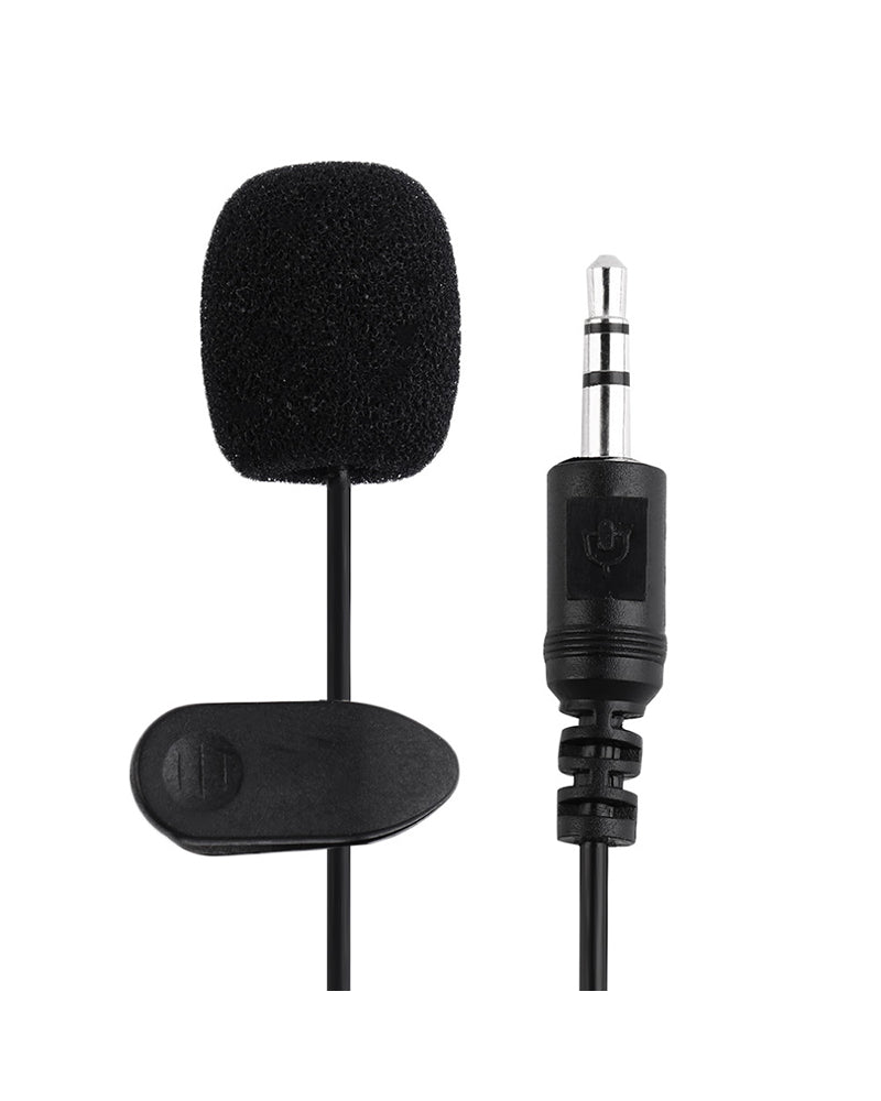 Portable External 3.5mm Hands-free Mini Wired Clip-on Lapel Lavalier Microphone For PC Laptop 3.5mm External