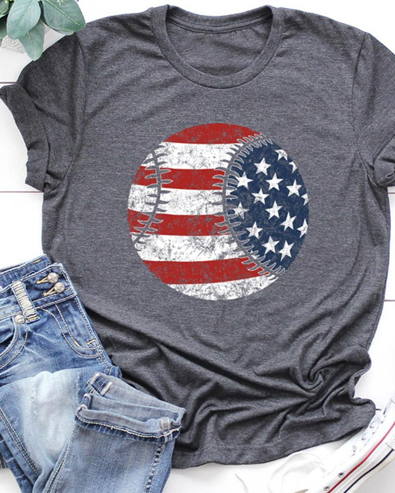 National Flag Print T-Shirt