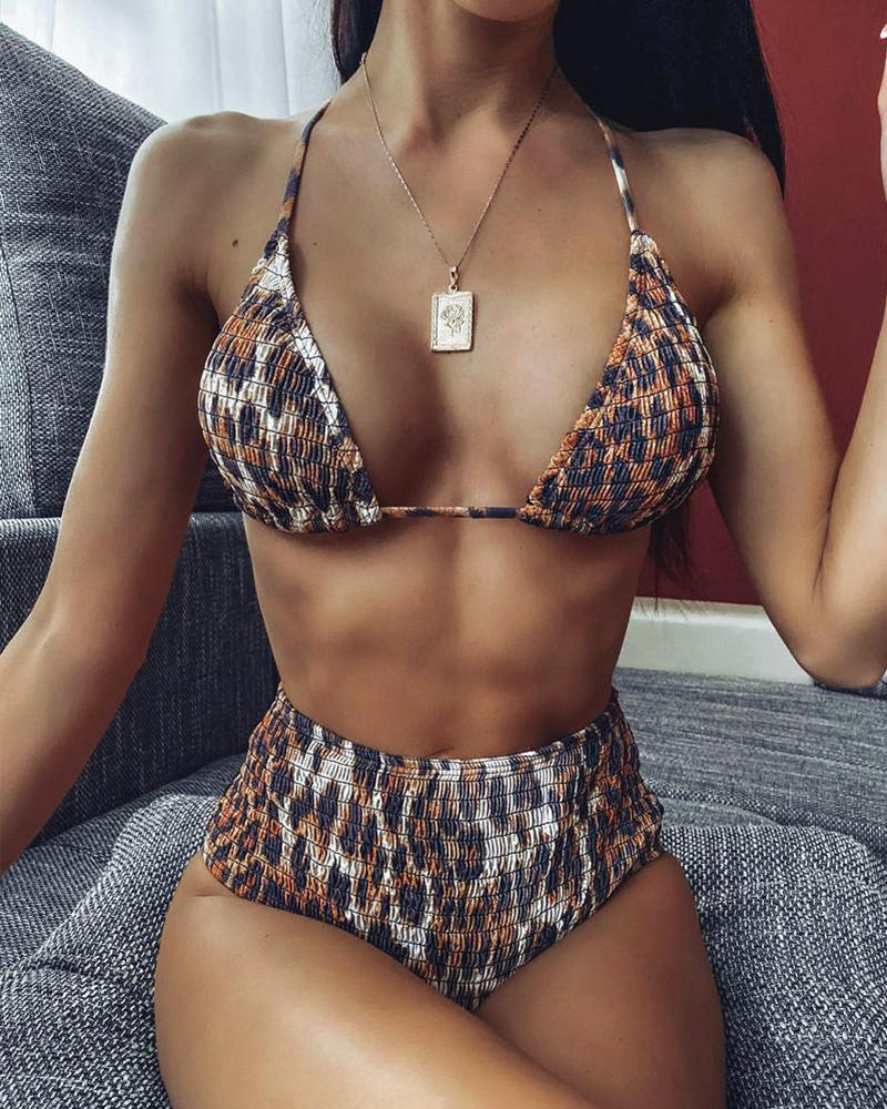 Leopard Triangle Bikini Set
