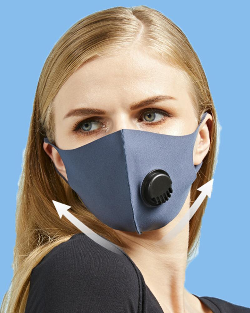 Sun Protection Face Mask With Valve