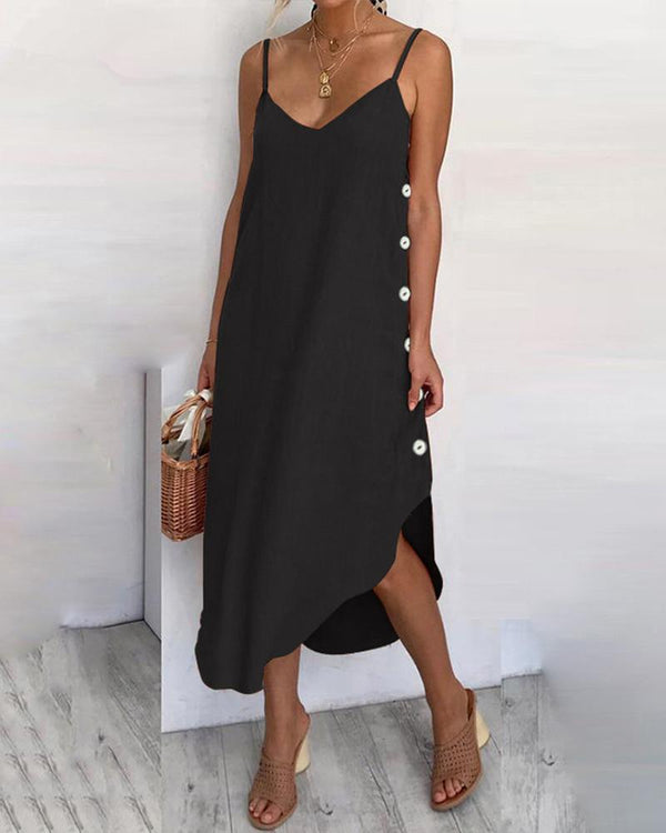 Side Button Cami Dress