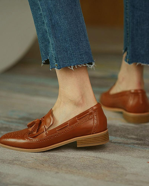 Crocodile Pattern Shallow Pointed Loafers