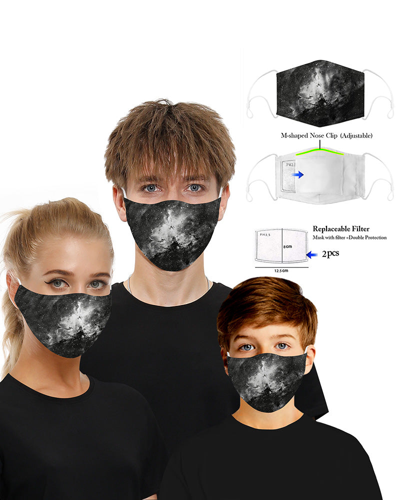 Tie Dye Print Mouth Mask Breathable Washable And Reusable With Replaceable Filter