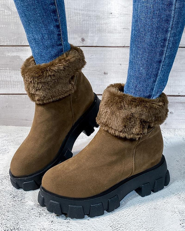 Solid-toe Round-toe Snow Boots