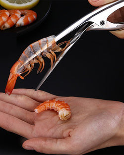 Advanced Stainless Steel Smart Housewife Handy Easy Peel Shrimp Clamp