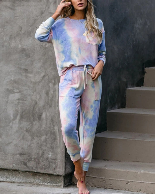 Tie Dye T-shirt Pants Homewear Sets