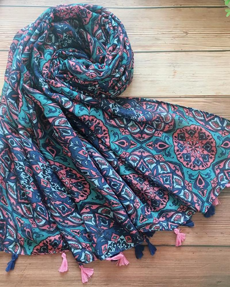 Ethnic Print Face Bandana Magic Scarf Headwrap Balaclava