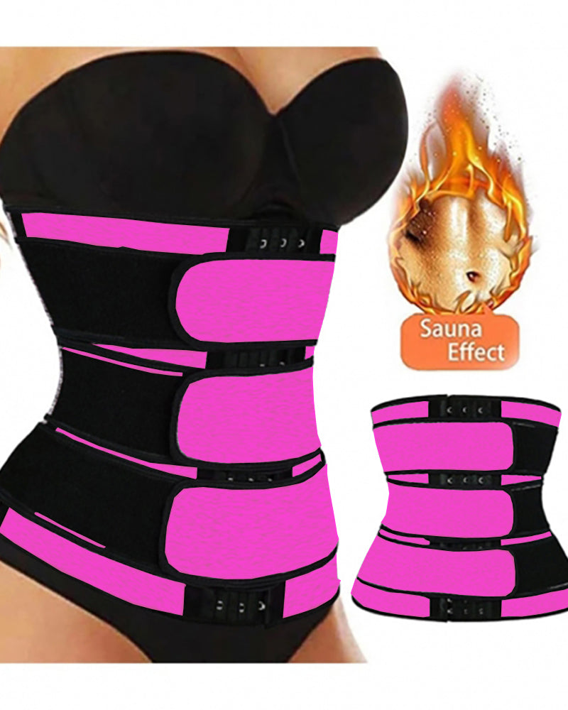 Three Belt Hook Latex Waist Trainer Workout Trimmer Belt Corset