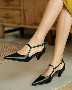 Pointy Toe Mary Jane Shoes