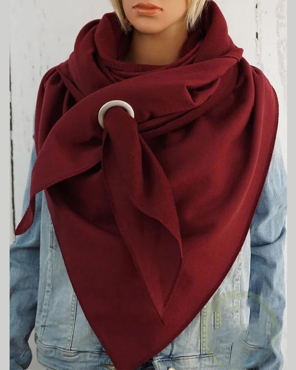 Casual Solid Color Scarf Shawl