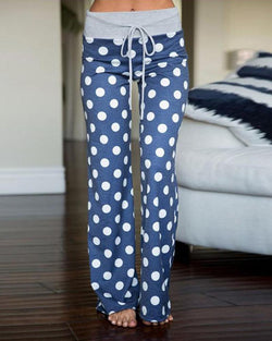 Polka Dot Drawstring Pants