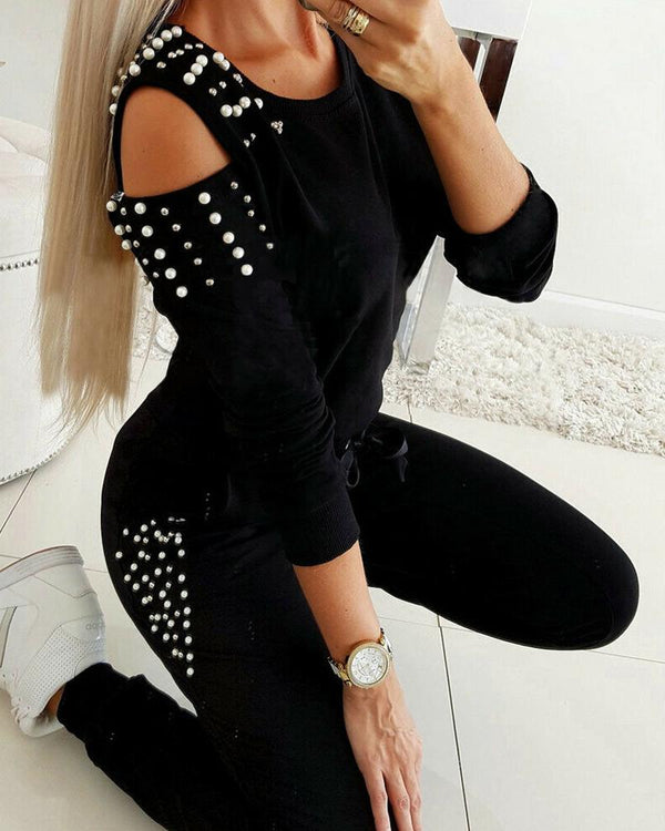 Rivet Pearl Slim Fit Top Leggings Sets