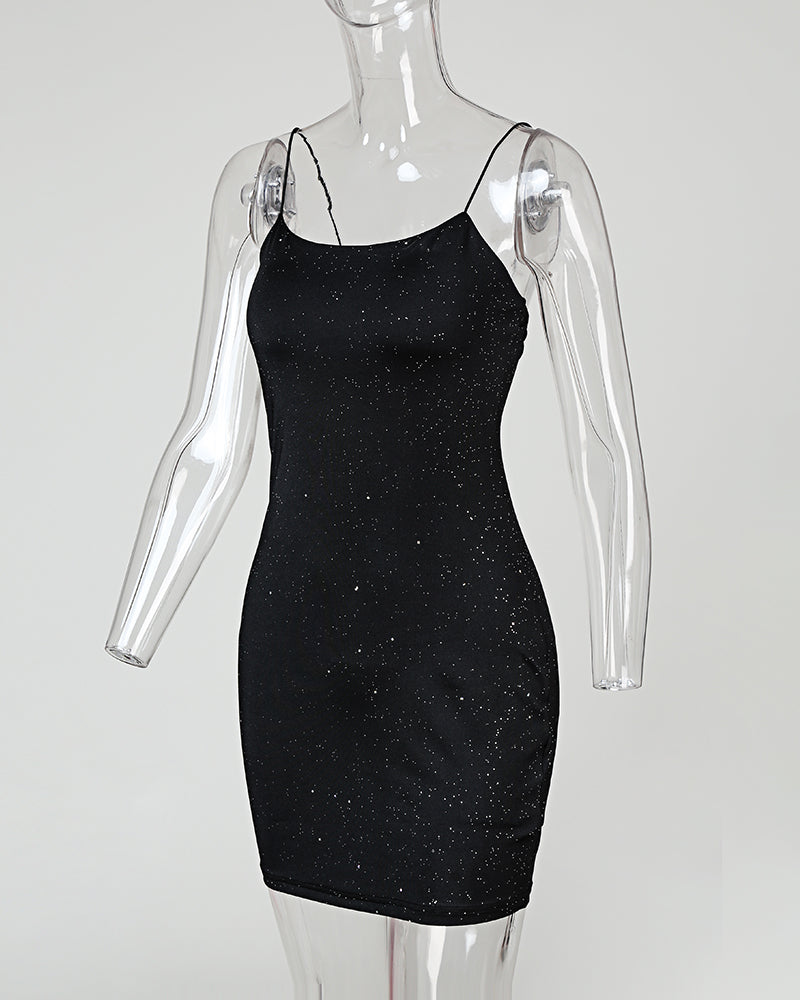 Glitter Bodycon Cami Mini Dress