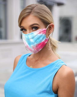 Tie Dye Print Breathable Face Bandana Magic Scarf Headwrap Balaclava