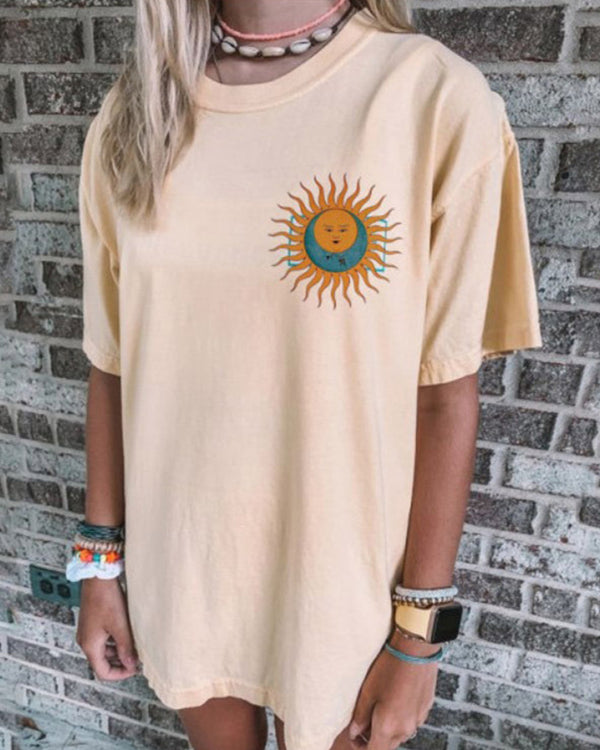 Sun Print Short Sleeve T-Shirts